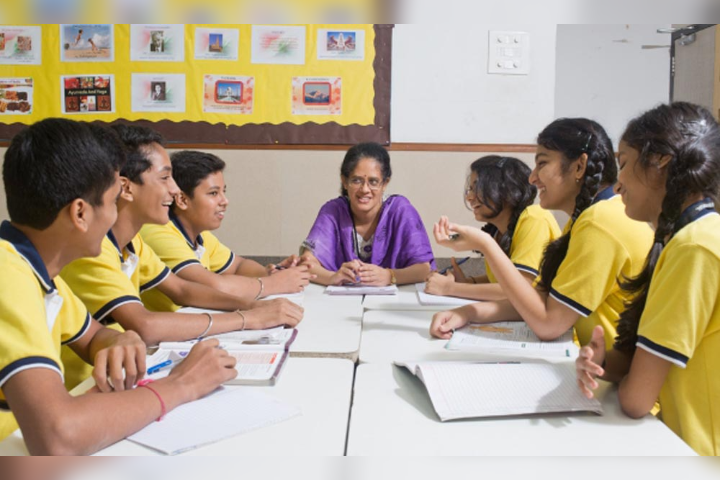 The Universal School, Ghatkopar - Student and Teacher