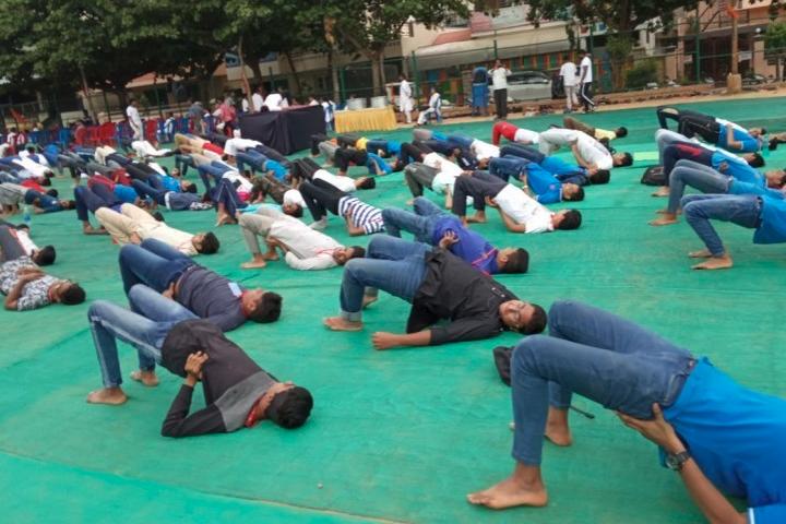 Reva Independent PU College-Yoga Day