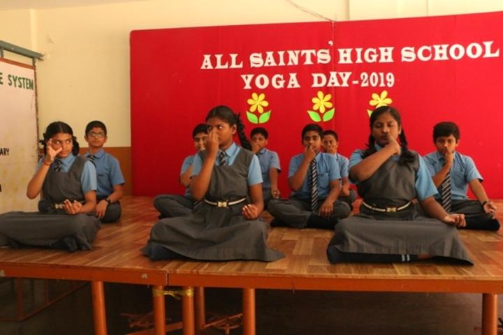 All Saints High School-Yoga Day