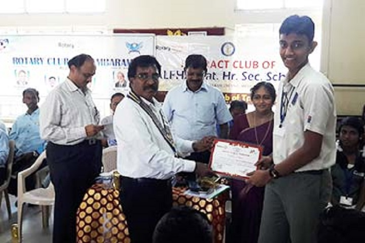 Alpha Matriculation Higher Secondary School-Prize