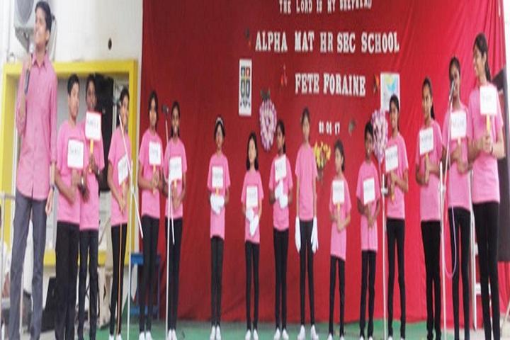 Alpha Matriculation Higher Secondary School-Singing