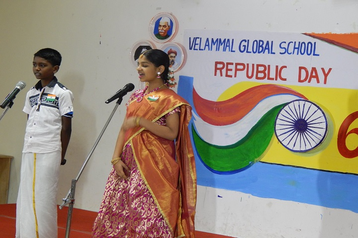 Velammal Global School-Republic Day Celebration