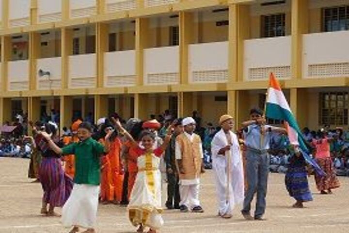 GKD Matric Higher Secondary School-Independence Day Celebrations