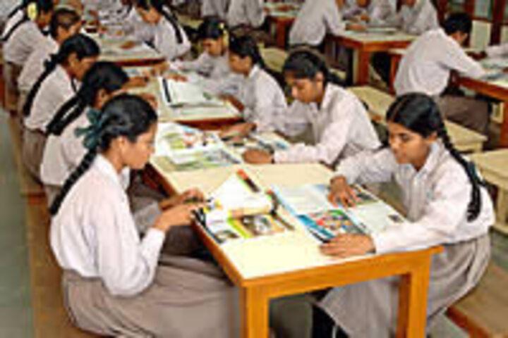 GKD Matric Higher Secondary School-Library