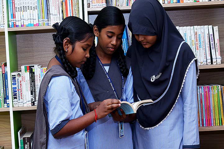 Dhanish Matriculation Higher Secondary School-Library