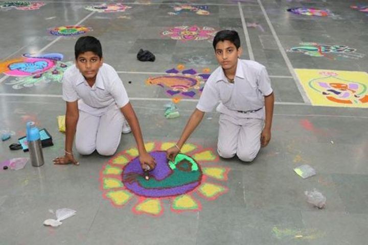 Rashtriya Sanskrit Model Senior Secondary School-Rangoli Competition