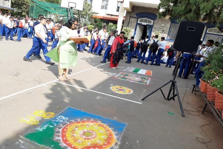 Sardar Dastur Hoshang Boys High School-Rangoli Competition