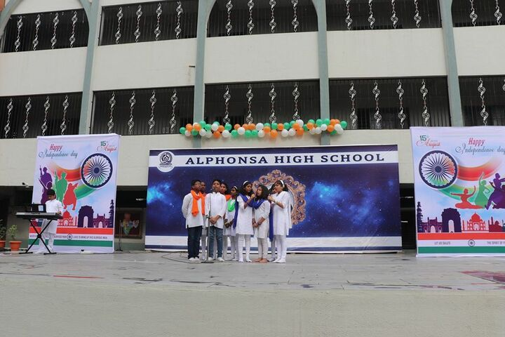 Alphonsa High School-Independence Day