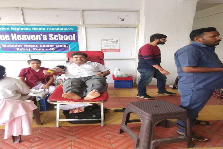 Blue Heavens English Medium School-Blood Donation Camp