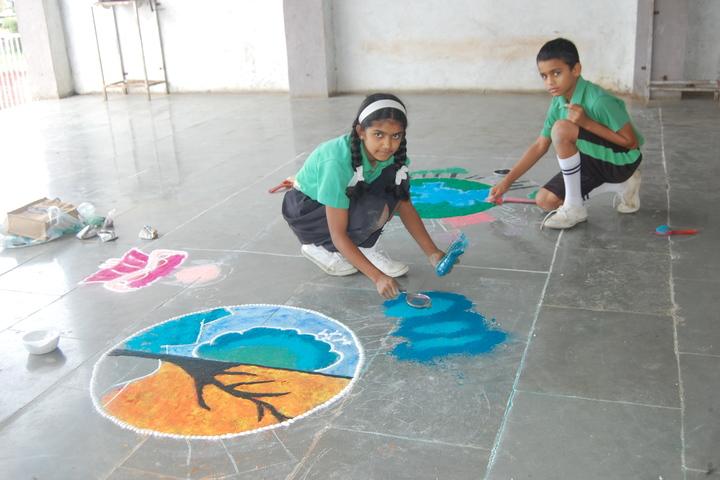St Josephs Convent School-Rangoli Competition