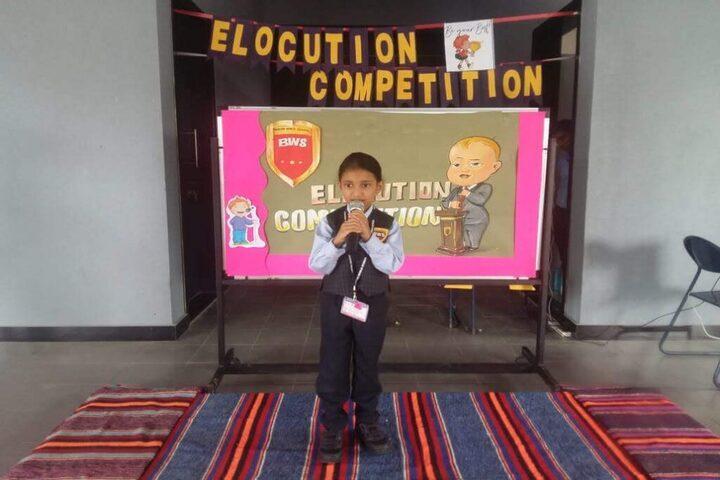 Boston World School-Elocution Competition