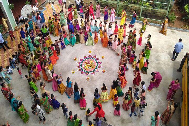 Pragnya Montessori School-Bathukamma Celebration