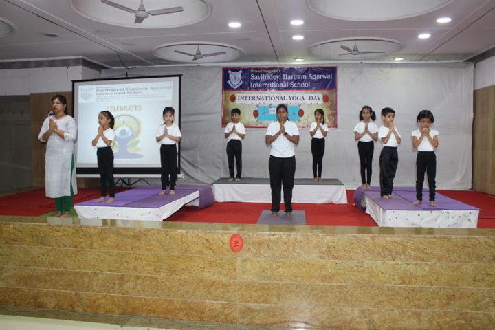 Savitridevi Hariram Agarwal International School-Yoga