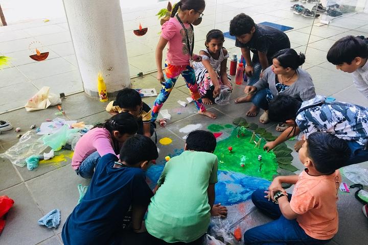 Tripada International School-Rangoli Competition