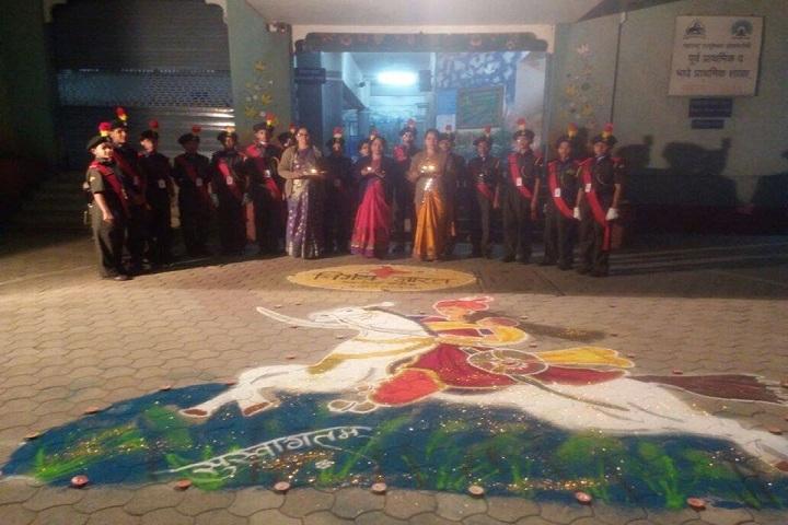 Rani Laxmibai Mulinchi Sainiki Shala-Festival celebrations