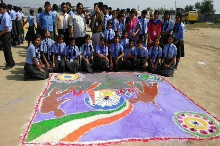 St Xaviers High School-Rangoli Competition