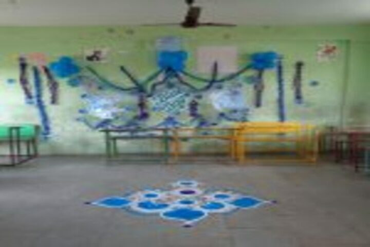 Priyadarshani School-Rangoli Competition