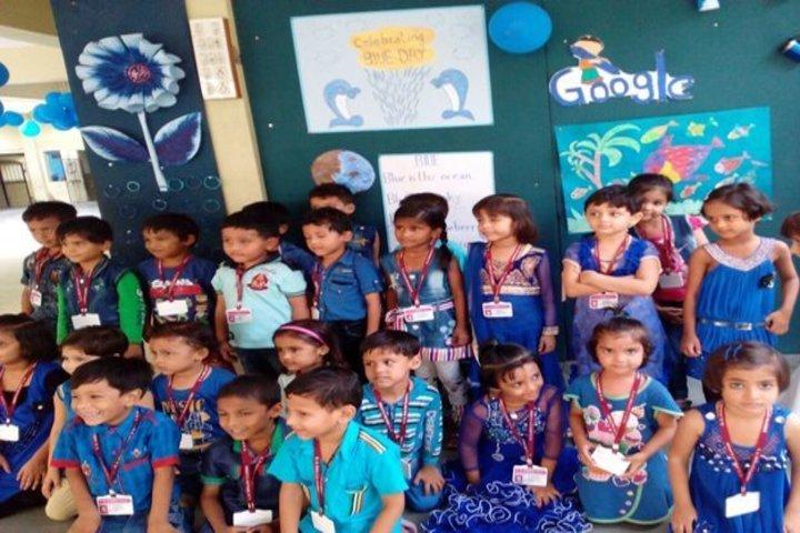 Pragati English Medim School-Blue Day
