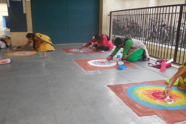 Pragati English Medim School-Rangoli