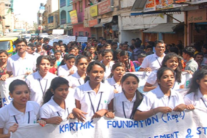 Karthik PU College-Rally