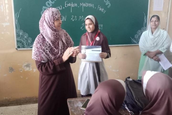 Anjuman I Islams Mustafa Fakih High School and Junior College-Classroom Activity