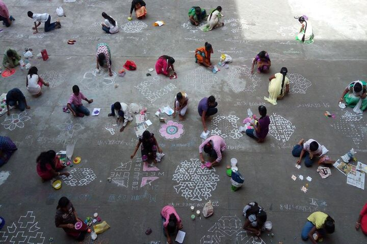 Holy Christ School-Rangoli Competition
