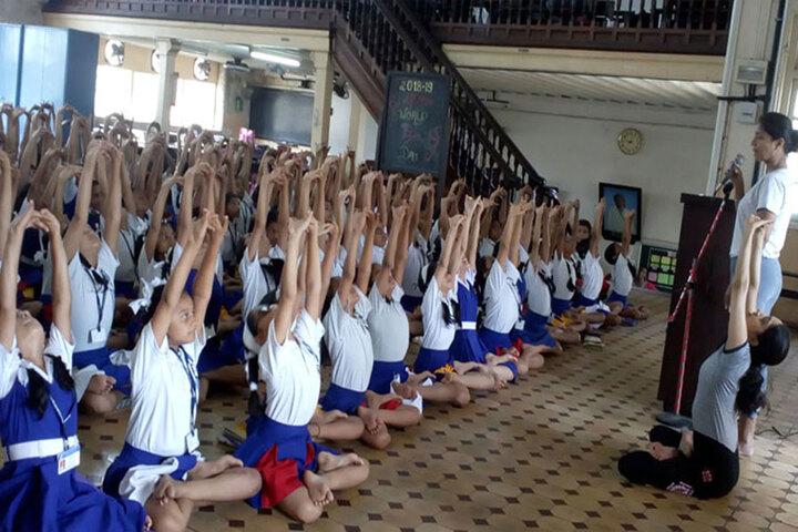 Bai M N Gamadia Girls High School-Yoga Day