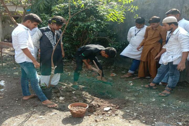 Bharat English High School and Junior College-Tree Plantation