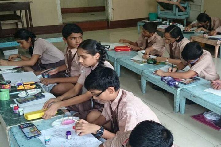 The Blossom Sunderbai Thackersey English High School-Drawing Activity