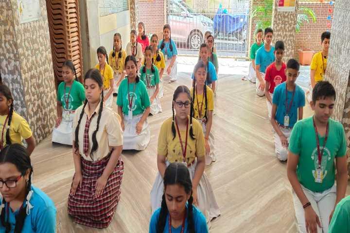 Sai Holy Faith High School-Ypga Day