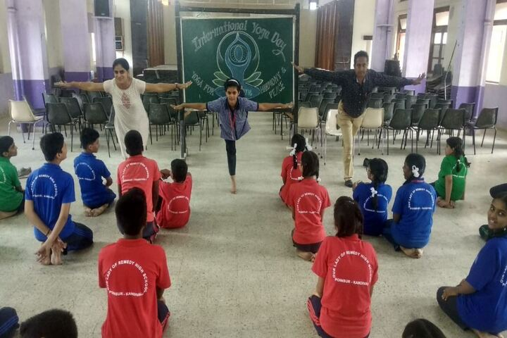 Our Lady of Remedy High School-Yoga Day