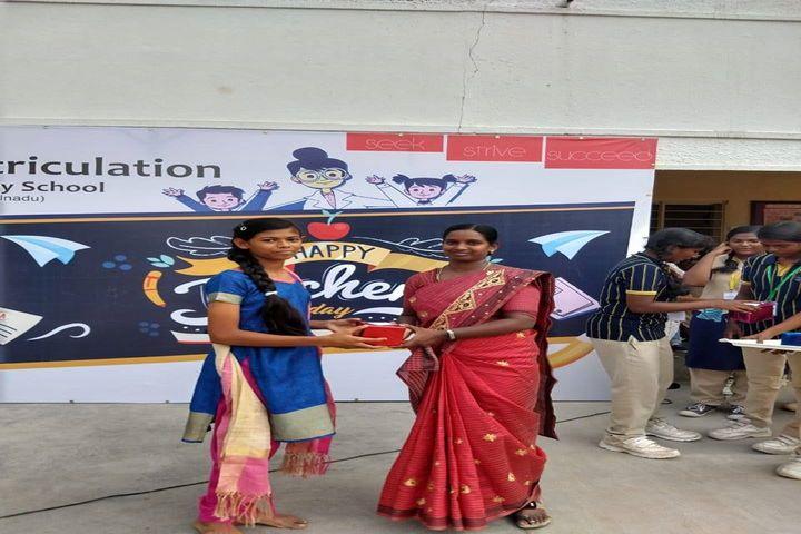 Annai Violet Matriculation School and Higher Secondary School-Teachers Day