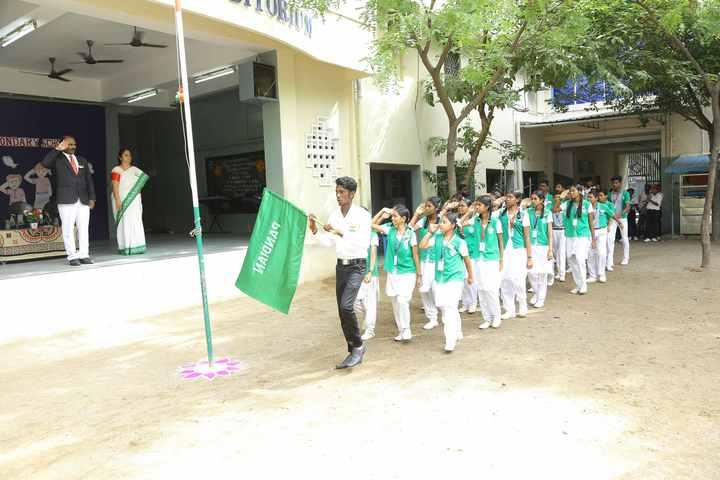 Valliammal Matriculation Higher Secondary School-Flag Hosting