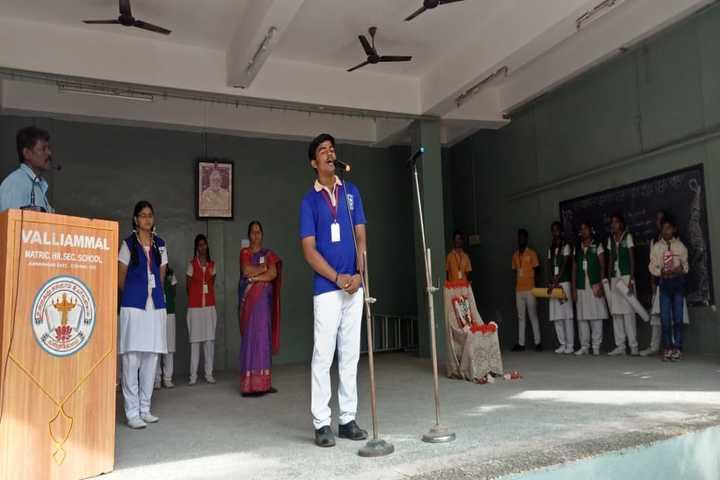 Valliammal Matriculation Higher Secondary School-Speech