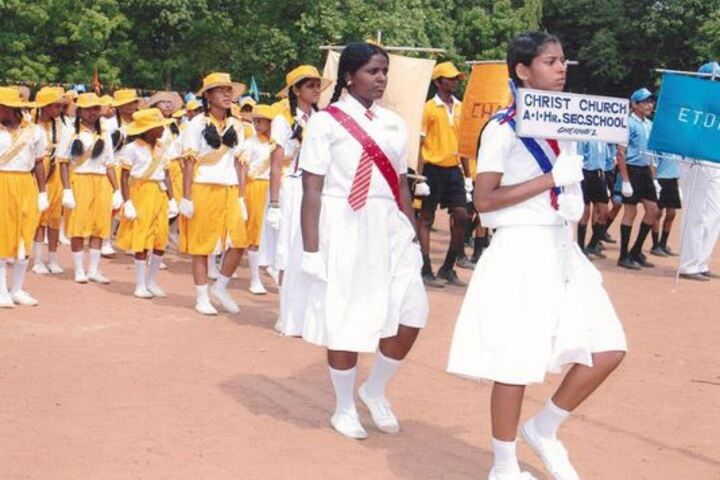 Christ Church Anglo Indian Higher Secondary School-March Past