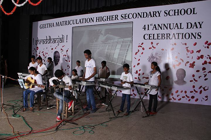 Geetha Matriculation Higher Secondary School-Music Competition