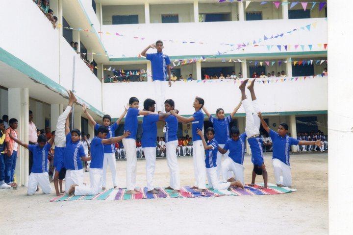 PMR Higher Secondary School-Human Pyramid