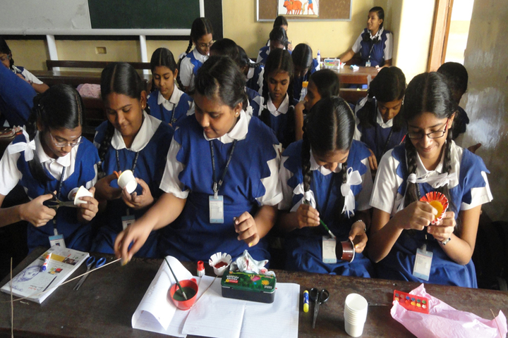 Rosary Matriculation Higher Secondary School-Art and Craft Class