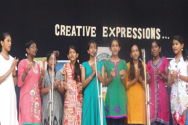 Rosary Matriculation Higher Secondary School-Group Singing
