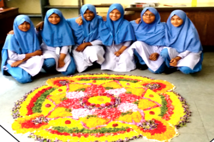 JM Matriculation School-Rangoli Competition