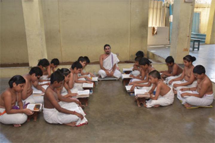 Sri Ahobila Math Oriential Higher Secondary School-Veda Pacticing