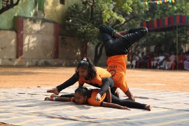 Sri Sankara Vidya Kendra Matriculation Higher Secondary School-Yoga Day