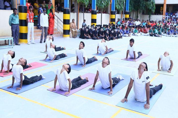 Sri Sayee Vivekananda Vidyalaya Matriculation Higher Secondary School-Yoga Day