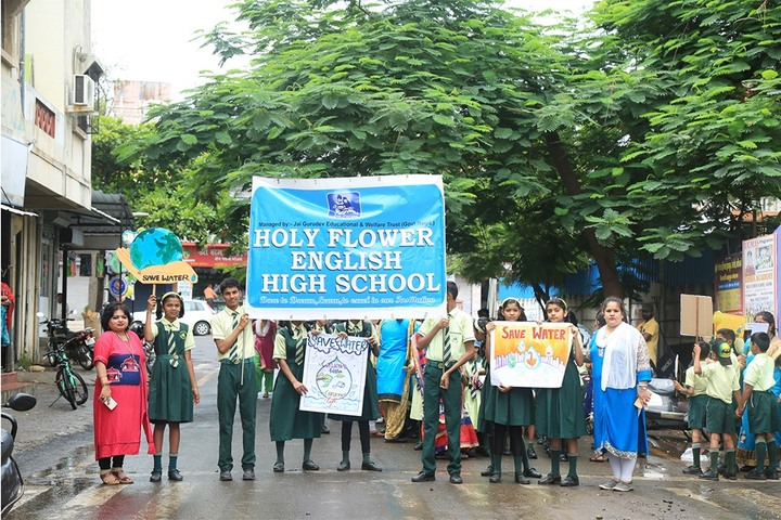 Holy Flower English High School-Save Water Rally