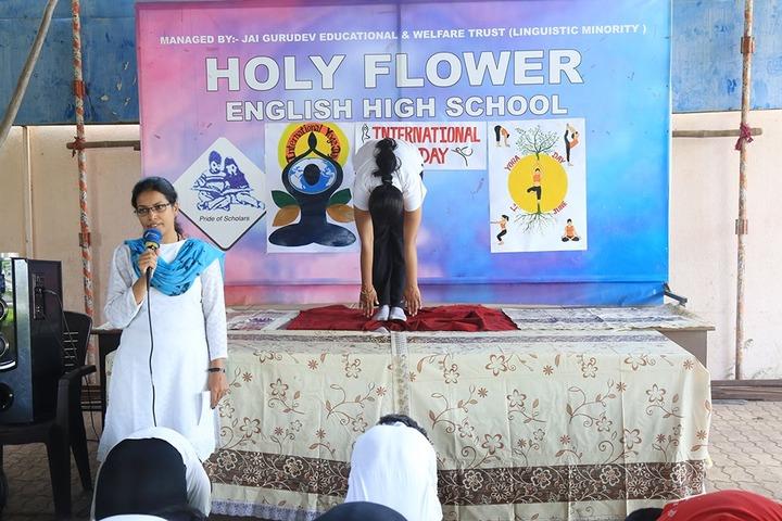 Holy Flower English High School-Yoga Day