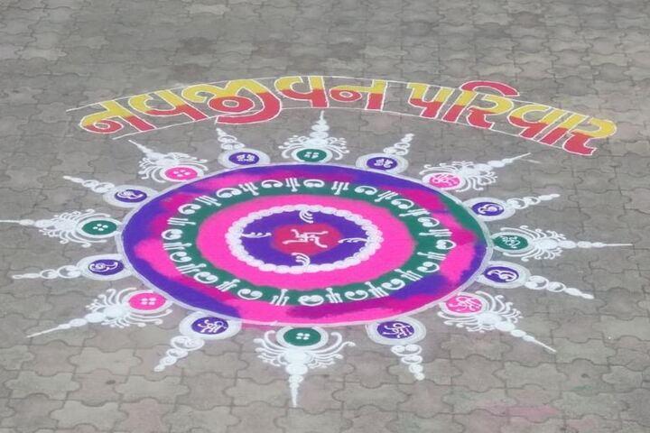 Navjeena High School-Rangoli