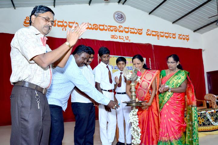 Shri Jagadguru Gangadhar High School-Light the Lamp