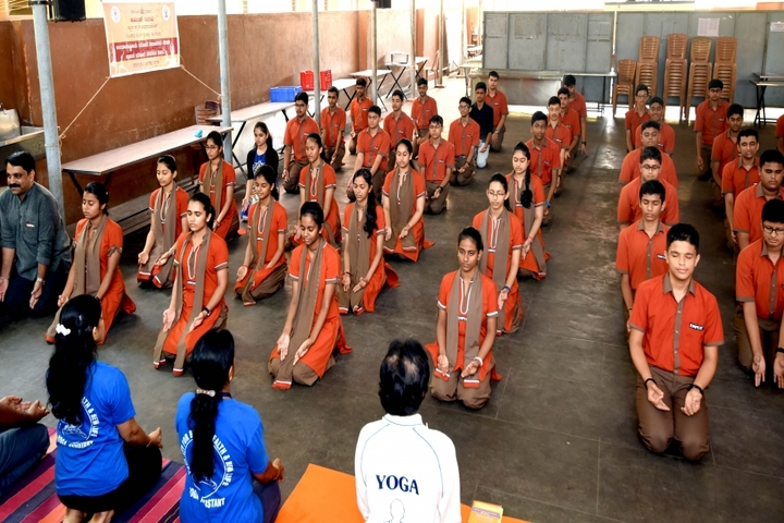 Expert Pre-University College-Yoga Day