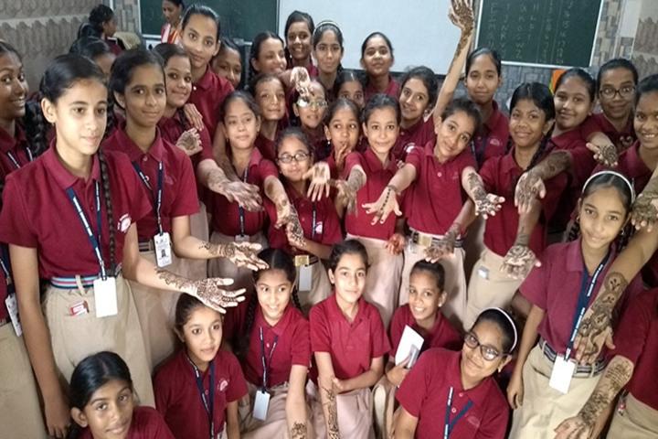 New Sunrise School-Mehendi Competition
