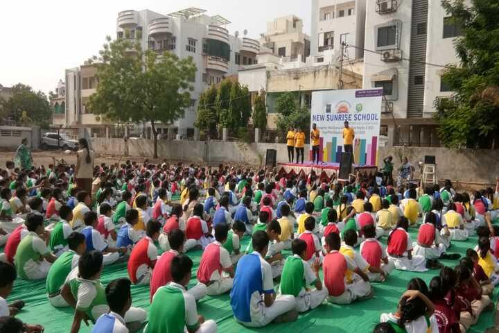 New Sunrise School-Yoga Day